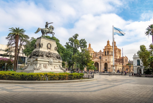 San Martin Square and Cordoba Cathedral - Cordoba, Argentina