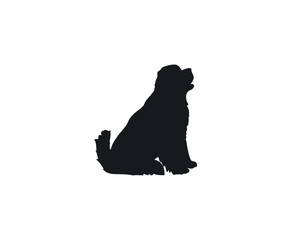 Newfoundland sitting silhouette