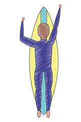man in surfboard avatar character