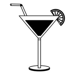 cocktail glass drink alcohol lemon straw