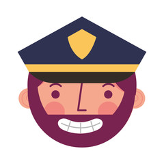 police man in uniform character