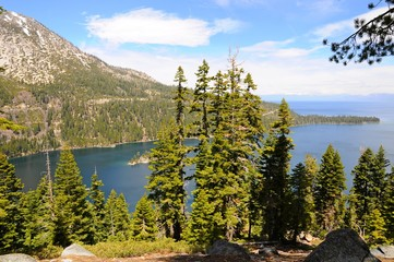 Beautiful Landscape of Emerald Bay State Park in Spring at Lake Tahoe in California, United States