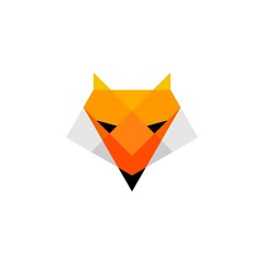Low poly fox head logo.