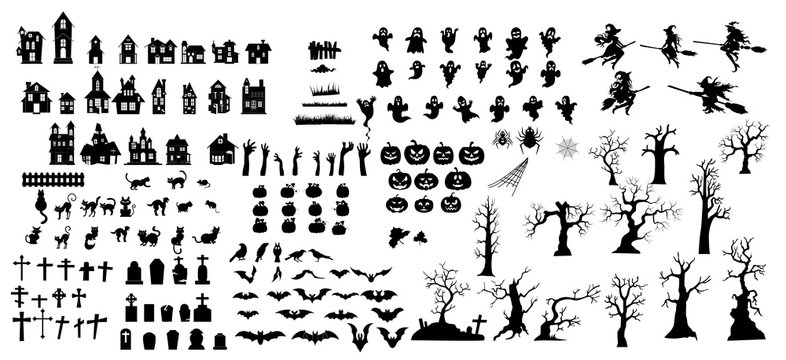Collection of halloween silhouettes