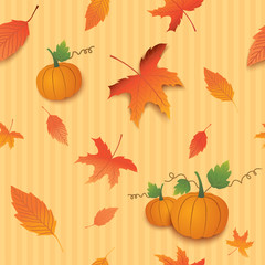 autumn frame template design illustration vector with maple leaf and