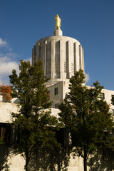 The Oregon State Capitol Dome in Salem Features Solid Granite