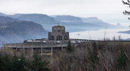 Crown Point Scenic Corridor Vista House and the Columbia River Gorge