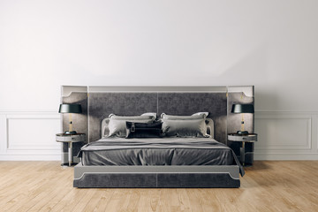 3d render of beautiful bedroom interior setup