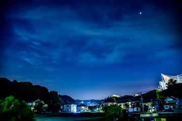 夜空を見上げると星空