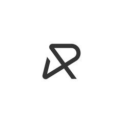 Letter R Line Logo Vector