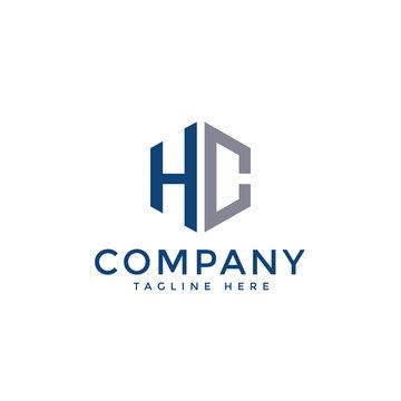 Letter HC Hexagon Logo Vector