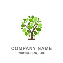 Green Tree Leaf Nature Summer Logo Vector Illustration
