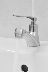 close up of faucet