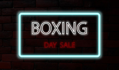 neon sign, boxing day sale