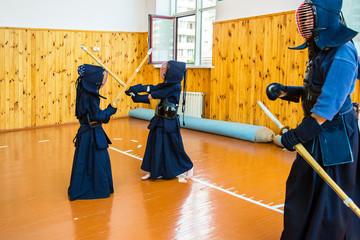 Japanese martial art of sword fighting