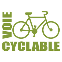 Logo voie cyclable.