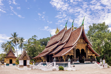 Beautiful view of the Wat Xieng Thong buddhist temple, Luang Prabang, Laos, Asia
