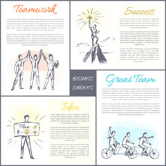 Business Concepts Collection Vector Illustration