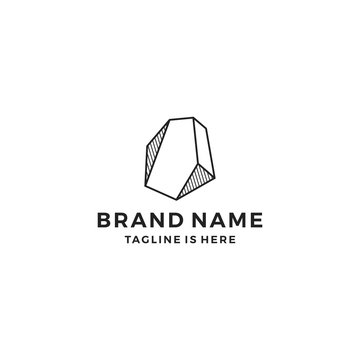 stone gems logo template vector illustration