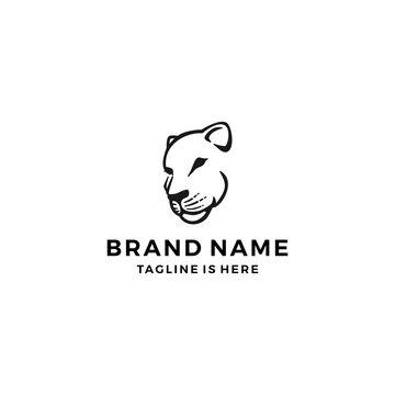 lioness logo template vector illustration