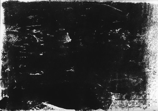 A high resolution scan of a black and white distressed lino print texture. Ideal for use as a background texture or for applying an aged or vintage effect to graphics.