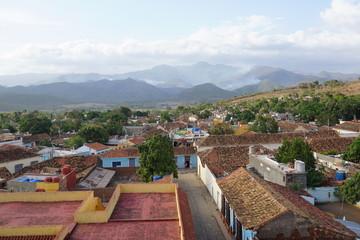 Blick auf die Kolonialstadt Trinidad auf Kuba