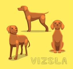 Dog Vizsla Cartoon Vector Illustration