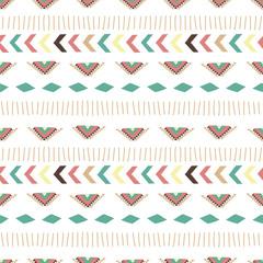 hand drawn boho seamless pattern