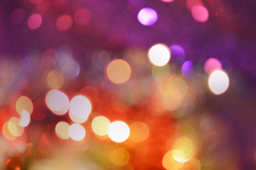 Defocused abstract bokeh and blur