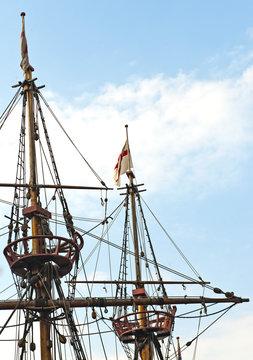 """Replik """"Golden Hinde"""" (Schiff von Sir Francis Drake), London, England, Grossbritannien, United Kingdom, Vereinigtes Königreich, UK, GB"""