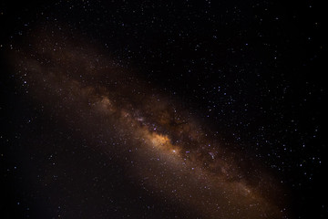 Milky way galaxy with stars and space dust in the universe, Long exposure photograph, with grain, night stars landscape at surabaya Indonesia