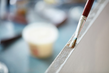 artist, primer canvas, painting, learn to paint