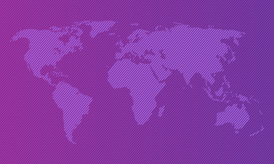 world map background design concept with gradient