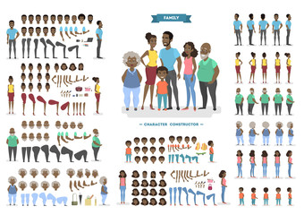 Family character set for animation