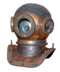 An old metal diving helmet.