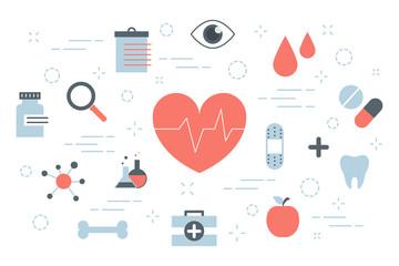 Health concept illustration