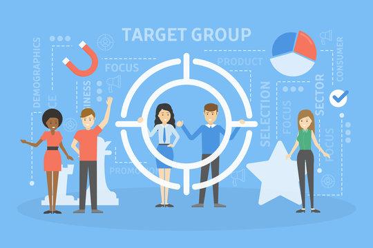 Target group concept illustration