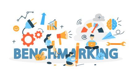 Benchmarking concept illustration