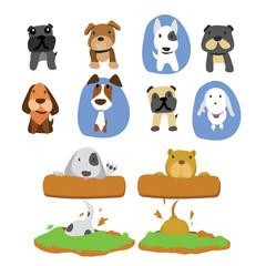 dog character vector design