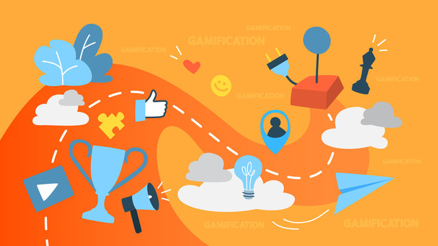 Gamification concept illustration