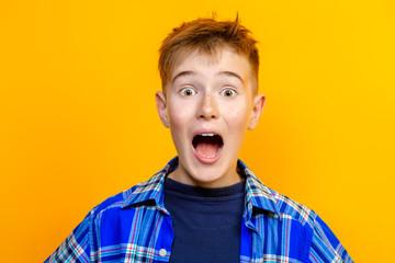 surprised emotional boy