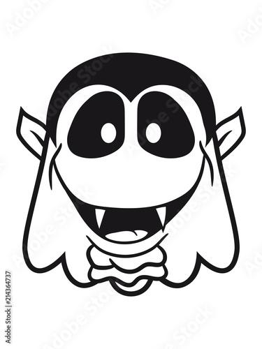 Vampir Blutsauger Geist Lachen Süß Niedlich Frech Comic Cartoon