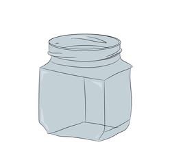 glass jar, vector