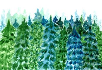 Forest landscape art