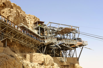 Bergstation der Gondelbahn, Nationalpark Masada, Judäa, Totes Meer, Israel, Naher Osten, Vorderasien