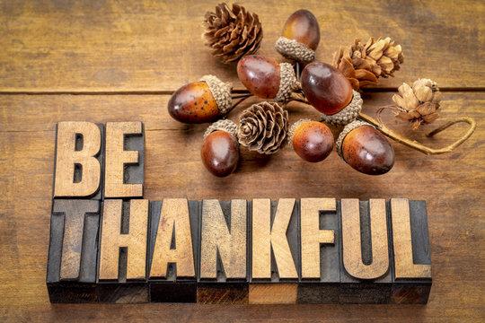 be thankful - Thanksgiving theme