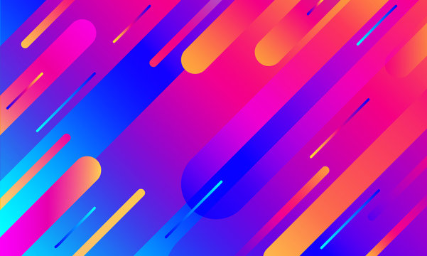 Geometric cover. Gradient colorful stripes composition. Cool modern neon blue color.Abstract fluid shapes. Liquid and fluid poster. Futuristic design poster. Banner dynamic flyer.Minimal soft color