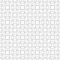 Gray geometric print on white background. Seamless pattern
