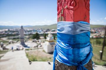 Mongolian blue scarf