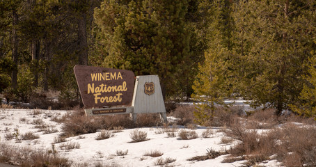 The Sign Says Welcome to Winema National Forest